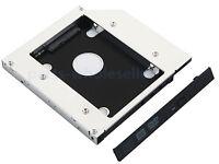 2nd HDD SSD Caddy HD Disco Duro Adaptador para 12.7mm SATA unidad óptica bay DVD