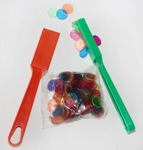 2 x Magnetic Wands and 100 Chips / Tokens / Counters,  Educational