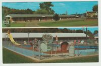 Unused Postcard Wests Deluxe Motel and Dining Room Mansfield Pennsylvania PA
