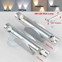 6W LED Up Down Lamp 360° Rotated Wall Light Corridor Sconce Bedroom Home Hotel