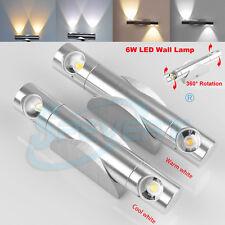 360 ° rotation 6W led up down mur lumière couloir appliques lampe éclairage
