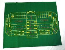 "Casino Craps Felt Cloth Layout 24"" x 30"" Royal Brand"