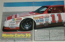 1986 magazine article, NASCAR Monte Carlo SS, Junior Johnson, Budweiser