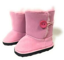Pink Boot with Pink Fur Lining Shoes for 18 inch American Girl Doll Clothes