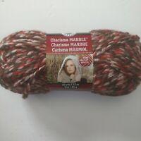 Loops & Threads Charisma Marble yarn brown sugar 3oz skein knitting crochet