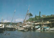 "*Chili Postcard-""Port Filled with Boats/Canoes"" /Puerto Montt-Angelmo-"