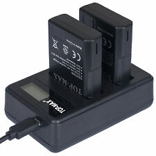 EN-EL14 ENEL14a Dual Charger MH-24 for Nikon D3200 D3300 D5300 D5500