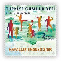 Turkey 2019 Week of Disabled people Unique Unusual Braille embossed stamp 1v