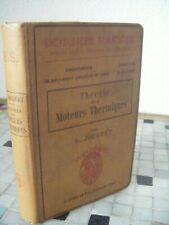 Théorie des moteurs thermiques - Jouguet - mécanique - Doin - 1909 - 62