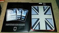 Ipad Union Jack Armour Shell Funda Con 3 X Protectores De Pantalla Para Primera Generación