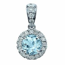 Aquamarine 9 Carat White Gold Fine Necklaces & Pendants