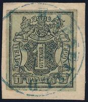 HANNOVER, MiNr. 2 a W,  schönes Briefstück, gepr. Jäschke-L., Mi. 300,-