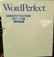 Vtg WordPerfect 5.0 Software IBM Binder with Manual Guide and Disks