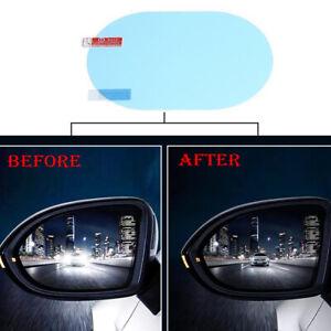 2× Car Accessories Anti-glare Anti Fog Rainproof Rearview Mirror Film Trim Cover
