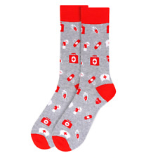 New Fun Socks Nurse Medical Doctor Size 9-11 Crew Casual Novelty Women Multi-Col