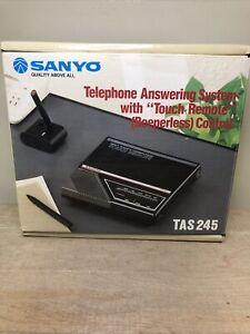 NOS Sanyo Answering Machine TAS 245 New Old Stock