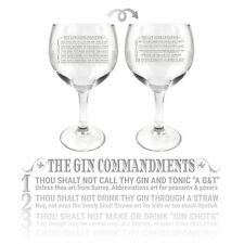 Ginsanity 22oz (645ml) Gin Tonic Cocktail Balloon Copa Glass - Various Styles
