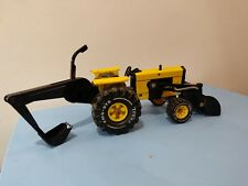 Vintage Tonka Metal Tractor with working front and rear digger scoops