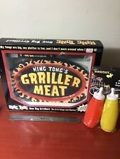 King Tong Grilling Platter, Tongs, And Ketchup/Mustard bottle grilling bbq smoke