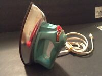 Vintage  Wolverine Childrens TOY IRON  Plastic & TIN Warms Up