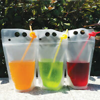 Pouch Bags Stand Up Zip lock Food Packaging Clear Plastic Drink bags Ice Frozen