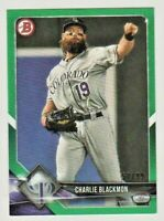 2018 Bowman Green #53 Charlie Blackmon Colorado Rockies Baseball Card 57/99