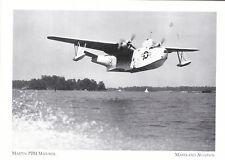 """""""The Martin PMB Mariner Bomber"""" -PMB-3S- -MD. Aviation  (#252) {Postcard}"""