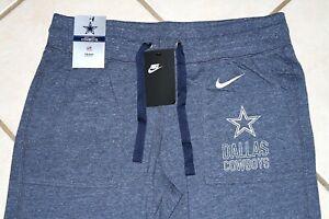 NEW NIKE Dallas Cowboys Gym Vintage Capri Pants Women's L Large Heathered Navy
