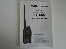YAESU FT-60E (GENUINE PRINT INSTRUCTION MANUAL ONLY)....RADIO_TRADER_IRELAND.