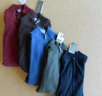 NWT $95 Daniel Cremieux 1/2 Zip Cotton Silk Cashmere Pullover Sweater