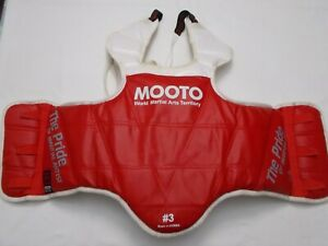 Martial Arts Chest Protector, MOOTO, Red, Size 3