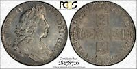 ENGLAND WILLIAM III 1700 1 SHILLING SILVER COIN PCGS CERTIFIED UNC. DETAILS