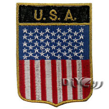 America Hanging Flag Embroidered Flag Sew or Iron on Patch National Flag Patches