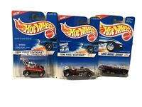 Vintage 1990's Hot Wheels 1996 first editions and 1995 Model Series lot of 3