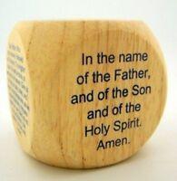 Wooden 2 1/4 Inch Favorite Catholic Religious Prayer Cube