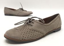 Dolce Vita Womens Beige Suede Low Oxford Dress Shoes Size 9
