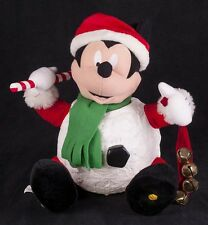 Gemmy Disney Animated Mickey Mouse Snowball Singing Christmas Display SEE VIDEO