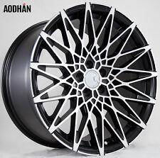 18X9 +30 AodHan LS001 Rims 5X100 Machined Wheel Fit SUBARU LEGACY WRX BRZ 2014