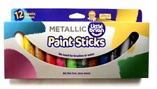 LITTLE BRIAN Paint Sticks Metallic Colours 12 Assorted
