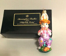CHRISTOPHER RADKO Hill Bill Bunny Christmas Tree Ornament 2001 with box Easter