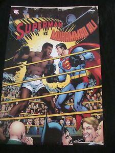 SUPERMAN vs MUHAMMAD ALI poster NEAL ADDAMS original commercially produced