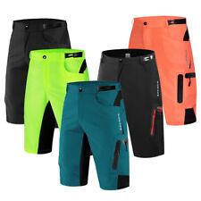 Pantaloncini da ciclismo da uomo Mtb sciolti Bici elastica vita pantaloni casual