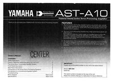 Yamaha AST-A10 Amplifier Owners Manual