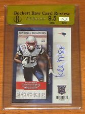 2013 CONTENDERS KENBRELL THOMPKINS AUTO RC PATS / JETS BGS 9.5 / 10 RAW AUTO RC