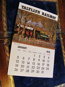 Talyllyn Railway 1975 postcard calendar VGC, sold to raise money for Talyllyn