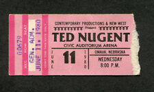 1980 Ted Nugent Scorpions Def Leppard Concert Ticket Stub Buffalo Scream Dream