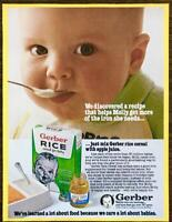 1982 Gerber Rice Cereal for Baby PRINT AD Molly Gets More Iron