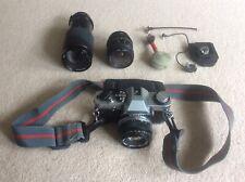 Olympus OMG SLR 35mm Film Camera (Olympus 50mm & Tokina 35-200mm Lens) Vintage