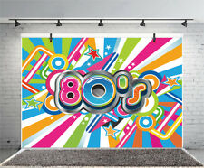 80s Party Illustration Logo Party Prop Backdrop Studio 10x6.5ft Photo Background
