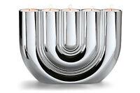 PHILIPPI DESIGN DOUBLE U Teelichthalter NEU/OVP eleganter Kerzenhalter a. Chrom